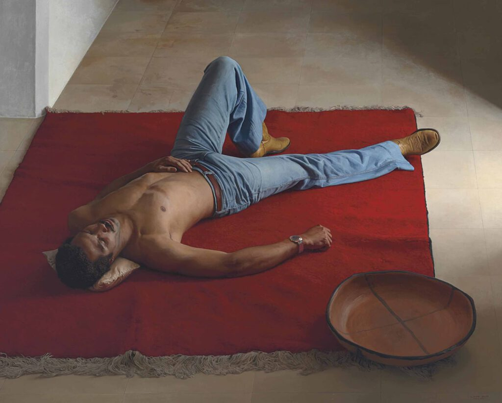 Famous Red Carpet painting By Claudio Bravo