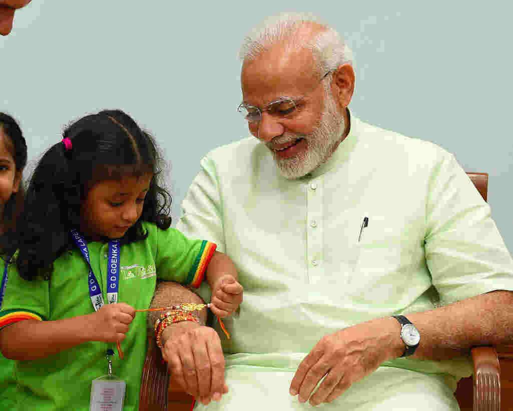 Narendra Modi Raksha Bandhan