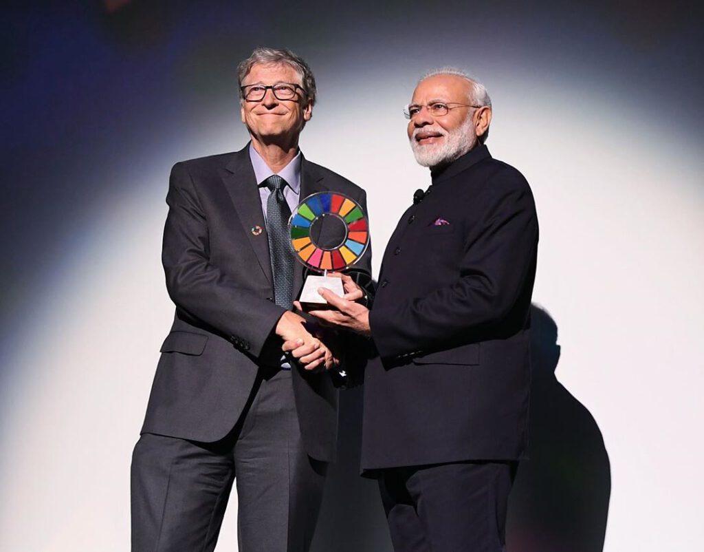 Narendra Modi and Bill Gates