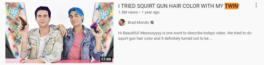 Brad Mondo Twin