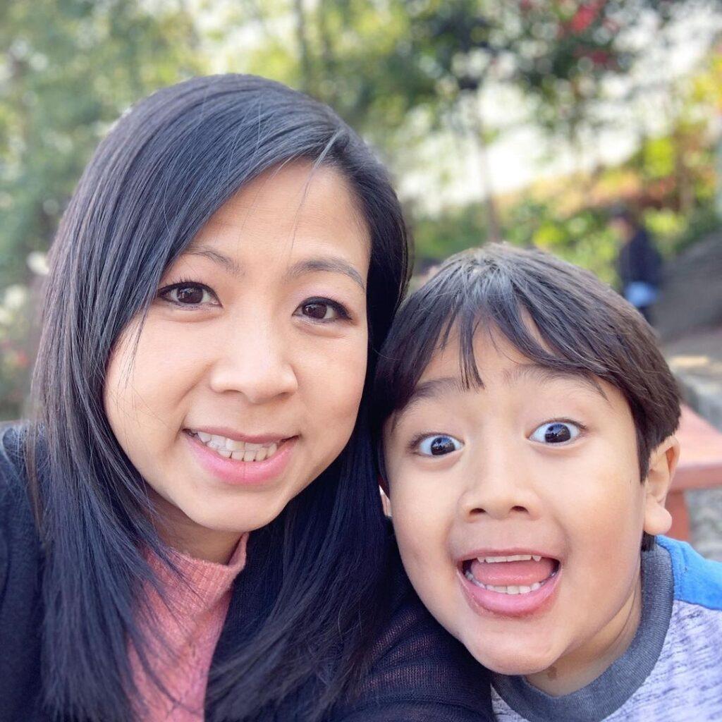 Ryan Kaji with mom