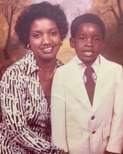 Young Rob Morgan with Mom