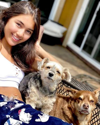 Kylin Kalani with pets