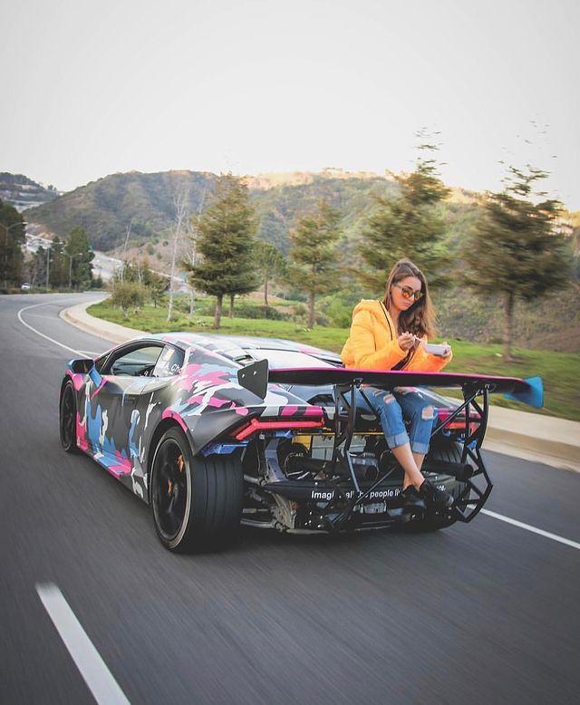 Alex Choi with his Super Car