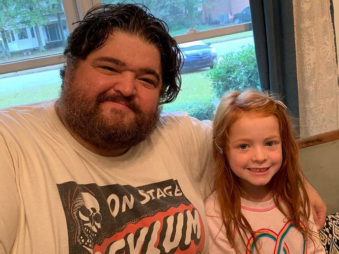 Jorge Garcia and a Little girl
