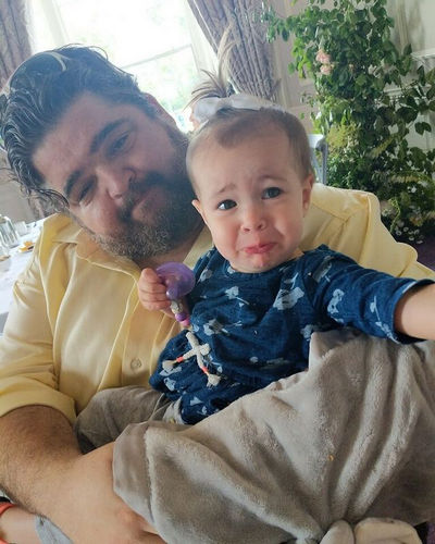 Jorge Garcia and a baby